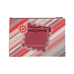 Red L Cosmetic Bag By Daniela   Cosmetic Bag (large)   797vaqlr6eb3   Www Artscow Com Back