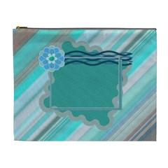 Blue Xl Cosmetic Bag By Daniela   Cosmetic Bag (xl)   Bn68sdo6ktkl   Www Artscow Com Front