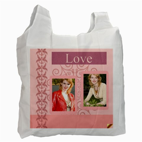 Love Theme By Joely   Recycle Bag (one Side)   6umxky4r7ri2   Www Artscow Com Front
