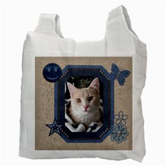 Delightful Denim 2 Sided Recycle Bag By Lil    Recycle Bag (two Side)   Dmv2q9zoiqap   Www Artscow Com Back