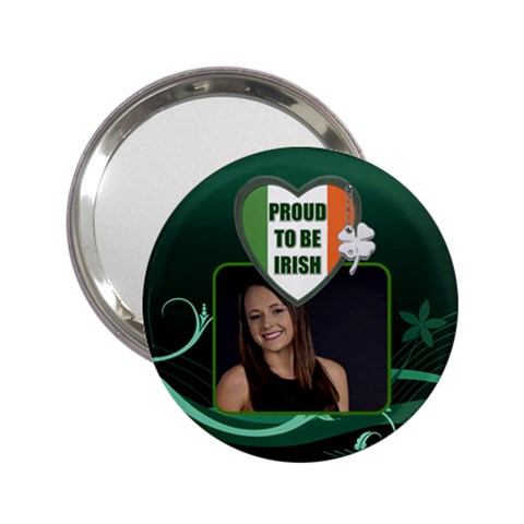 Proud to be Irish Handbag Mirror by Lil Front