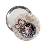 Pretty Butterfly Love Handbag Mirror - 2.25  Handbag Mirror