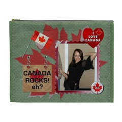 I Love Canada XL Cosmetic Bag by Lil Front