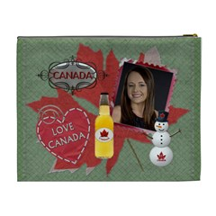 I Love Canada XL Cosmetic Bag by Lil Back