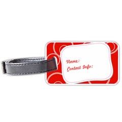 Bold Red Luggage Tag 2 Sides By Purplekiss   Luggage Tag (two Sides)   Yix5tnklhc0w   Www Artscow Com Front