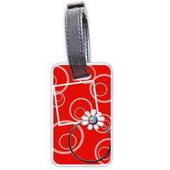 Bold Red Luggage Tag 2 Sides By Purplekiss   Luggage Tag (two Sides)   Yix5tnklhc0w   Www Artscow Com Back