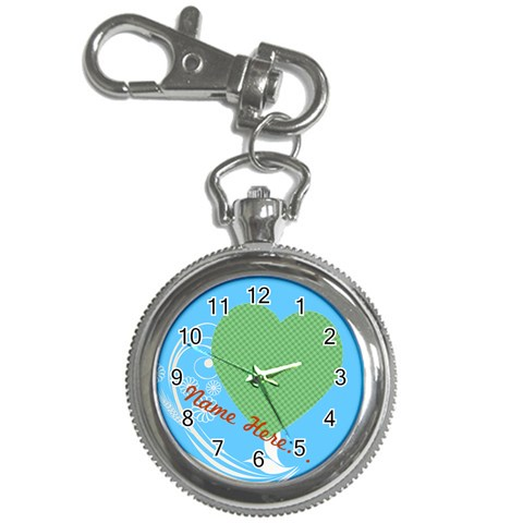 Little Blue Keychain Watch By Purplekiss   Key Chain Watch   Iyhgi2xa53ea   Www Artscow Com Front