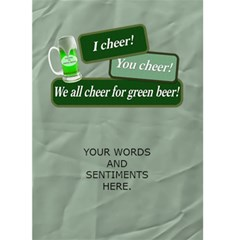Irish For A Day 5x7 Greeting Card By Lil    Greeting Card 5  X 7    Kacdwf8fp93k   Www Artscow Com Back Inside