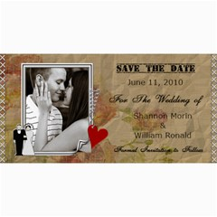 Wedding Save The Date Cards #6 By Lil    4  X 8  Photo Cards   W4hmxiokvaek   Www Artscow Com 8 x4 Photo Card - 6