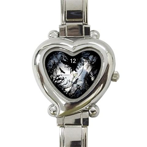 Dark Heart By Jiu3a   Heart Italian Charm Watch   4zg1s21adqg9   Www Artscow Com Front
