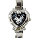 dark heart - Heart Italian Charm Watch
