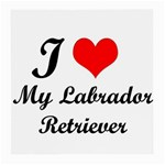 I Love My Labrador Retriever Glasses Cloth (Medium, Two Sides) Back