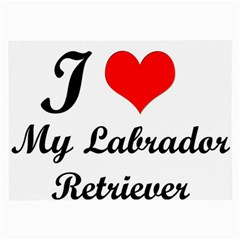 I Love My Labrador Retriever Glasses Cloth (Large)
