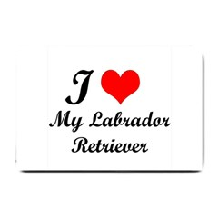 I Love My Labrador Retriever Small Doormat