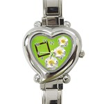 spring watch - Heart Italian Charm Watch