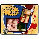 Happy day - Fleece Blanket (Medium)