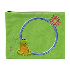 Lil  Froggie Xl Cosmetic Bag 1 By Lisa Minor   Cosmetic Bag (xl)   N0eiv1u8xfg2   Www Artscow Com Front