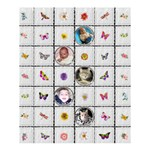 Butterflys & Flowers Medium Shower Curtain - Shower Curtain 60  x 72  (Medium)