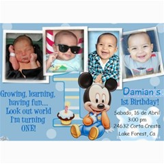 Dds Bday By Liz   5  X 7  Photo Cards   9nio1s4yol1w   Www Artscow Com 7 x5 Photo Card - 9