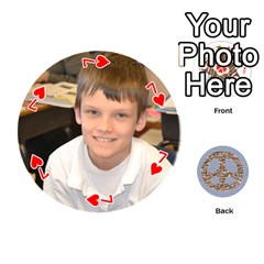 6th Grade Cards By Christy Patritti   Playing Cards 54 (round)   Va82t2netkd1   Www Artscow Com Front - Heart7