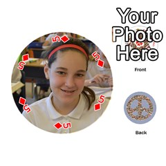 6th Grade Cards By Christy Patritti   Playing Cards 54 (round)   Va82t2netkd1   Www Artscow Com Front - Diamond5