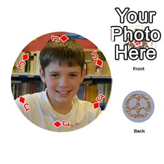 Jack 6th Grade Cards By Christy Patritti   Playing Cards 54 (round)   Va82t2netkd1   Www Artscow Com Front - DiamondJ