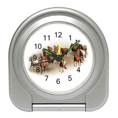 Cowboy Horse Roundup Travel Alarm Clock by spendithere