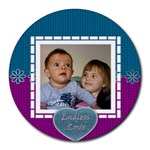 Endless Love mousepad - Round Mousepad