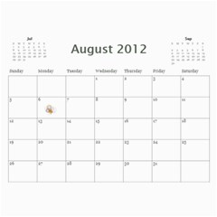 Calander 2011 By Amanda   Wall Calendar 11  X 8 5  (18 Months)   Xb2nnfcmvrqp   Www Artscow Com Aug 2012