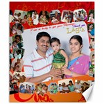 lasya & family - Canvas 20  x 24