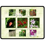 Seasons in my Garden Extra Large 80 x 60 fleece blanket - Fleece Blanket (Large)
