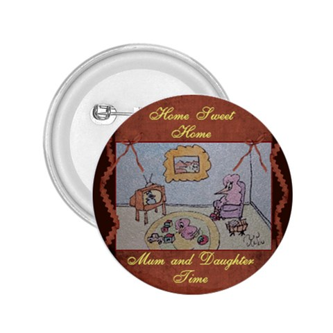 Home Sweet Home By Trine   2 25  Button   S4d001dtggd1   Www Artscow Com Front