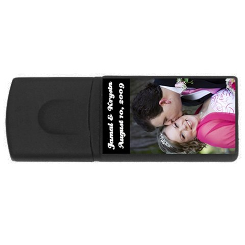 2gb Wedding By Kf   Usb Flash Drive Rectangular (2 Gb)   Lyn0ugnldf3d   Www Artscow Com Front