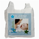 baby blue - Recycle Bag (One Side)