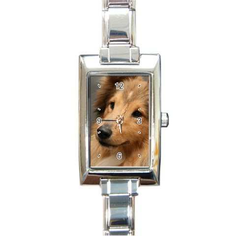 Musse Clo By Jiu3a   Rectangle Italian Charm Watch   8e96zn9ovumg   Www Artscow Com Front