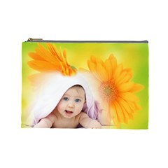 Baby Flower Cosmetoc Mag L By Elena Petrova   Cosmetic Bag (large)   Vug4sbs816w8   Www Artscow Com Front
