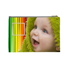 Rainbow Baby Cosmetic Bag L By Elena Petrova   Cosmetic Bag (large)   B2yv34q7zj5w   Www Artscow Com Back