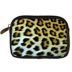 Cheetah Skin Digital Camera Leather Case by photogiftanimaldesigns