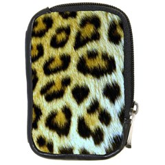 Cheetah Skin Compact Camera Leather Case by photogiftanimaldesigns