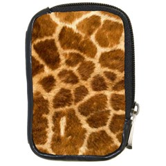 Giraffe Skin Compact Camera Leather Case by photogiftanimaldesigns