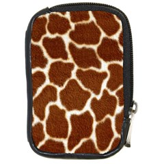 Giraffe Skin 2 Compact Camera Leather Case by photogiftanimaldesigns