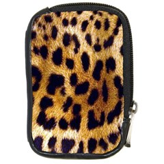 Leopard Skin Compact Camera Leather Case by photogiftanimaldesigns