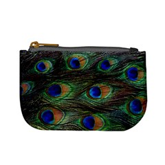 Peacock Feathers Mini Coin Purse by photogiftanimaldesigns