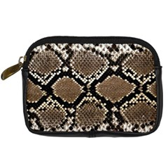 Snake Skin Digital Camera Leather Case by photogiftanimaldesigns