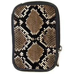 Snake Skin Compact Camera Leather Case by photogiftanimaldesigns