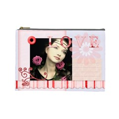 Love Bag By Joely   Cosmetic Bag (large)   73vtd1cmaegg   Www Artscow Com Front