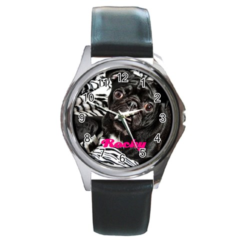 Rocky Girl Watch By Chantel Reid Demeter   Round Metal Watch   Qg3xvmzwy0u6   Www Artscow Com Front