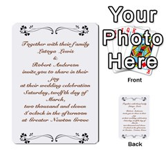 Toya & Roberts Wedding By Jr   Multi Purpose Cards (rectangle)   Jjalc1xz8as4   Www Artscow Com Back 6