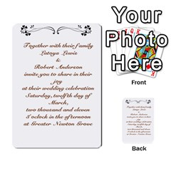 Toya & Roberts Wedding By Jr   Multi Purpose Cards (rectangle)   Jjalc1xz8as4   Www Artscow Com Back 7