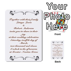 Toya & Roberts Wedding By Jr   Multi Purpose Cards (rectangle)   Jjalc1xz8as4   Www Artscow Com Back 4